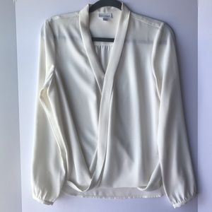 J. Jill | Cream V-Neck Long Sleeve Blouse, XS